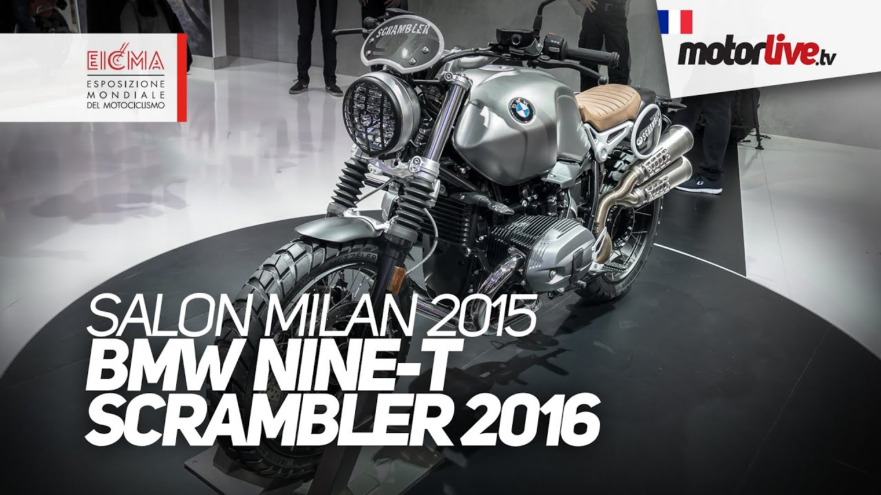 salon milan 2015 bmw r nine t scrambler 2016 eicma. Black Bedroom Furniture Sets. Home Design Ideas