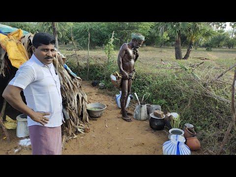 கண் தெரியாமல் பனை ஏறி வரும் வயதான ஐயா   செட்டியாபத்து   உடன்குடி  