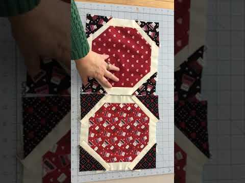 Trimming the Octagon Quilt Block