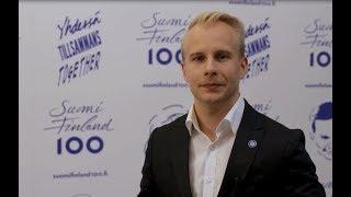 Finland 100 Födiskaffe, flaggning, festbelysning