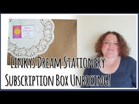 Stationery Subscription Box UNBOXING - Linkys Dream - May 2014