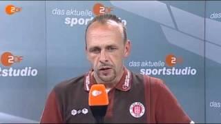 """Stanislawski nach dem 1:8: """"Wie ein Stich ins Herz"""""""
