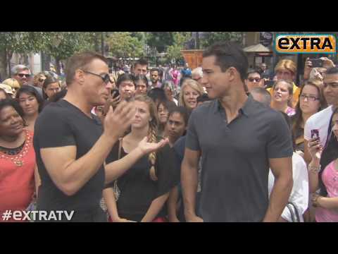 Jean-Claude Van Damme Ss Off His Moves at The Grove!