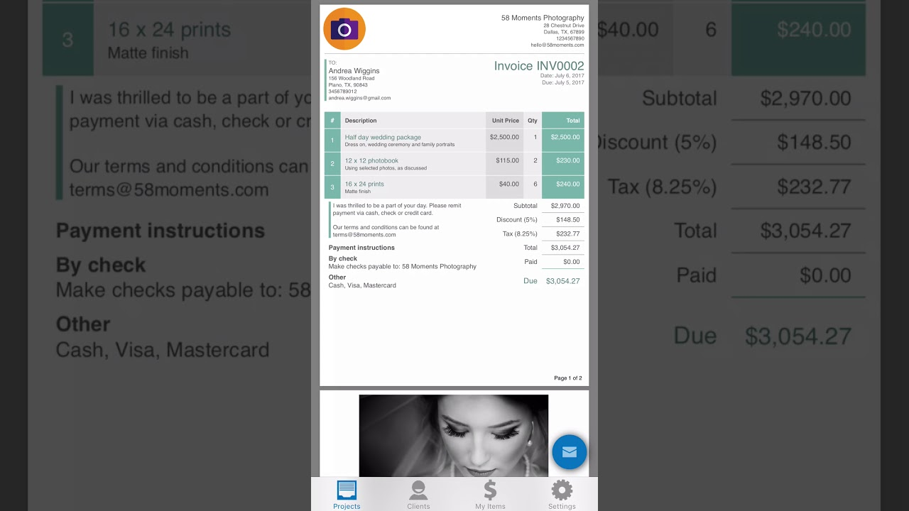 Invoice Simple On Your IPhone YouTube - Invoice simple vancouver