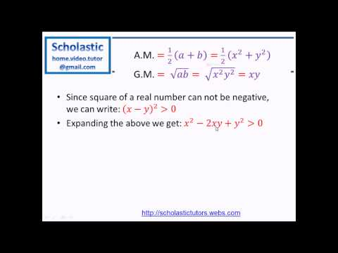 Inequalities - #2 Relation Between Arithmetic Mean & Geometric Mean of Two Numbers