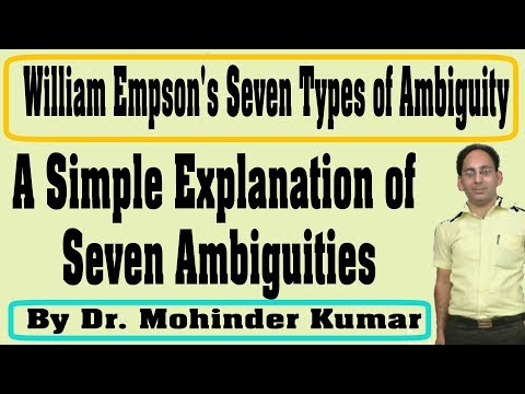 William Empson's Seven Types Of Ambiguity| Ambiguity| Ctms Family|