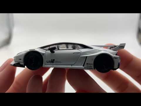 MINI GT 1:64 LB WORKS Lamborghini Huracan GT White Diecast Model Car