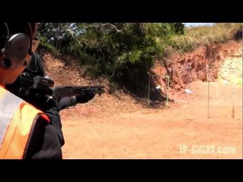 SWAT装備でRemington M870(ショットガン)を撃つ in Guam GOSR
