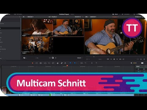 Multicam Schnitt mit Davinci Resolve | Tutorial [Deutsch/German]