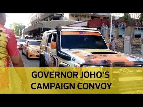 Governor Joho's campaign convoy