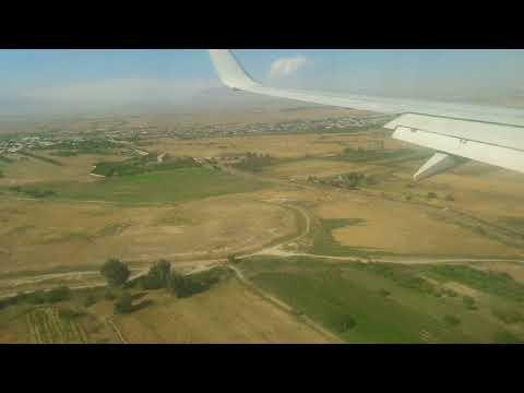 Заход на посадку в Ереване на Boeing 737-800  31.08.2018.   S7-905