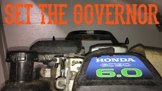 How To Set / Adjust the Governor on a Honda GC160 / 190 Engine and GCV Lawn Mowers