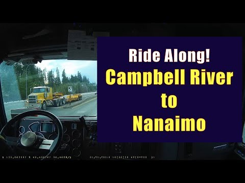 In Cab Dash Cam - Campbell River To Nanaimo B.C., Vancouver Island
