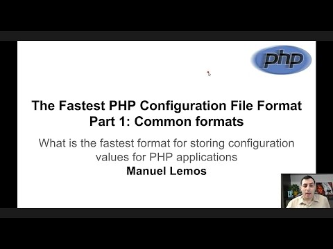 The Fastest PHP Configuration File Format Part 1