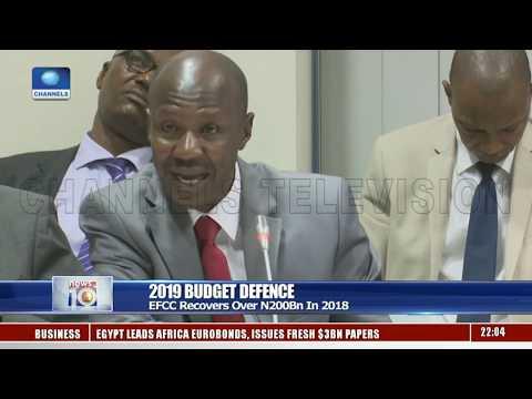 Budget Defence: Reps Consider Financial Plan Of EFCC, NFIU Pt.1 04/04/19  News@10 