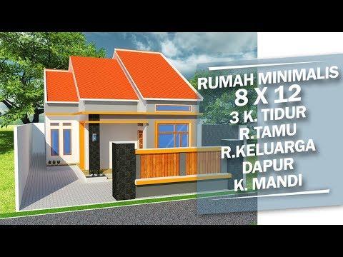 desain rumah minimalis sederhana 1 lantai 3 kamar tidur 7
