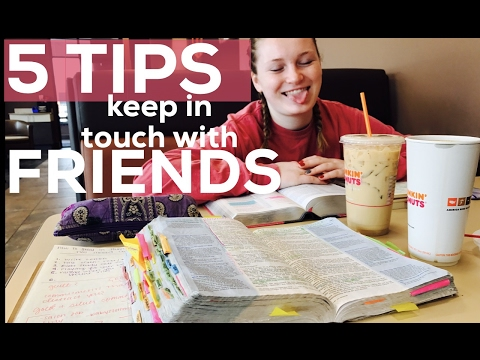 5 Ways to Keep In Touch with Friends | Christian Advice + Visiting my Friend at College Vlog