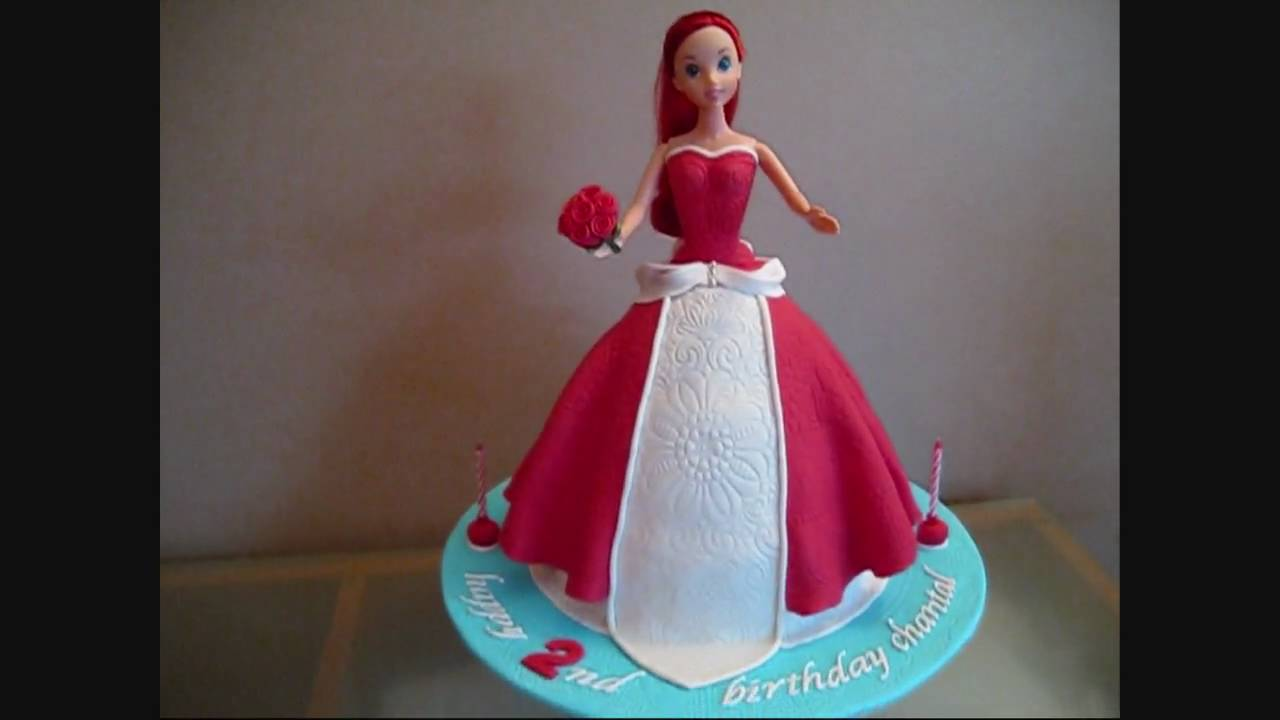 Ariel Disney Princess Doll Cake  YouTube