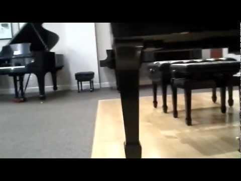 A look under Vladimir Horowitz's piano - people's signatures