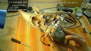Ремонт фары Toyota Camry XV40  Запотевание фары автомобиля ремонт