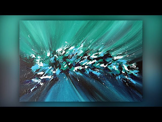 Abstract Acrylic Painting / Easy / Palette Knife / Demo #037