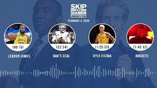 LeBron James, Dak's deal, Kyle Kuzma, Rockets (2.4.20)   UNDISPUTED Audio Podcast