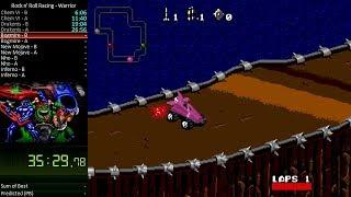Скачать Rock N Roll Racing Sega Genesis Warrior Speedrun In 2 00 40