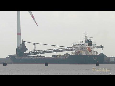 self discharging bulk carrier OC PEPEL ex VESTNES 9HVS9 IMO 9440447 Emden