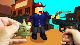 REALISTA ROBLOX-mundos melhor xerife COWBOY GUNSLINGER-BOUNTY tiro em primeira pessoa REVOLVER