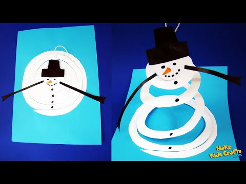 How to make Paper Snowman? DIY