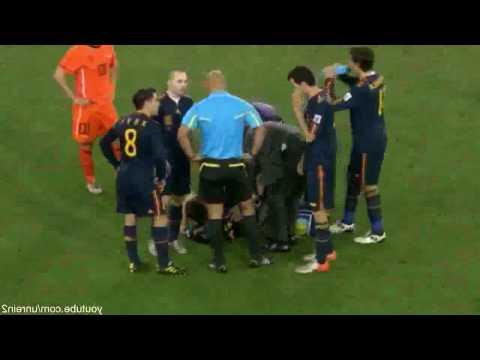 Kung Fu Kick - Nigel de Jong on Xabi Alonso - Netherlands vs. Spain - World Cup Final 2010