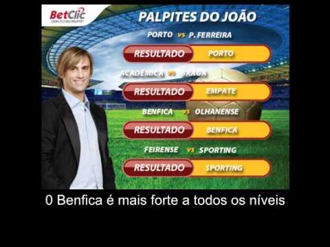 Video Palpites Joao Pinto Zon Sagres 9 Jornada Braga Benfica Sporting Porto Youtube