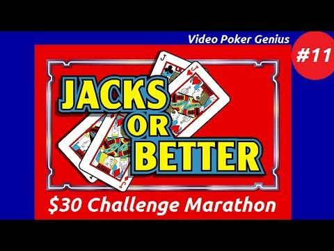 Video Poker Genius [Part 11] - Jacks Or Better $30 Challenge Marathon!