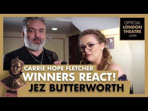 Winners Reactions - Olivier Awards 2018 -  Carrie Hope Fletcher interviews Jez Butterworth