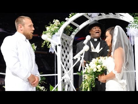 Slick prepares to marry AJ and Daniel Bryan: Raw, July 23, 2012