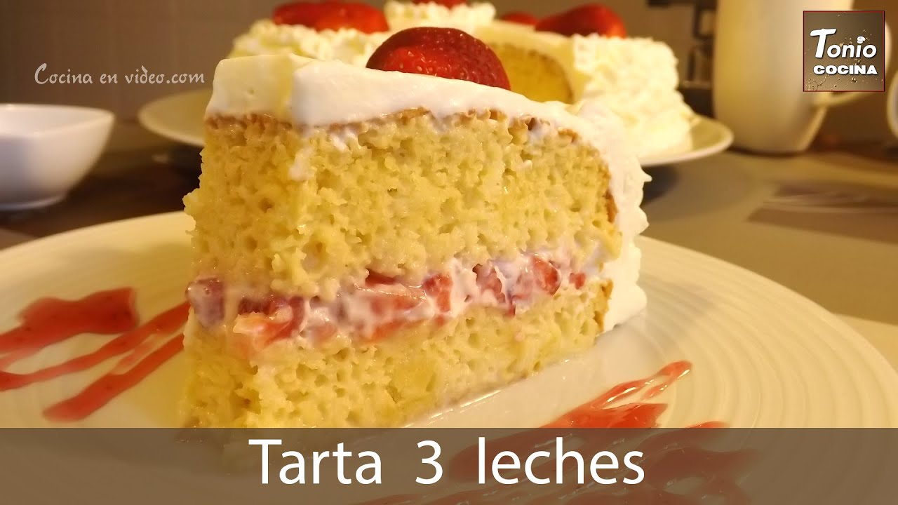 ingredientes para torta tres leches