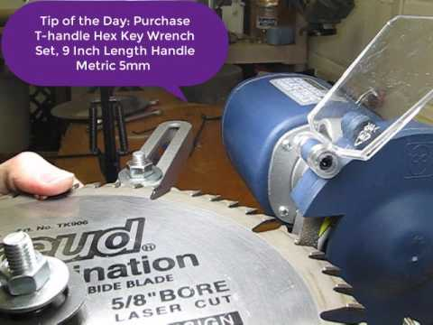 Sharpen a 50 Tooth Carbide Tipped Blade in 4 Minutes