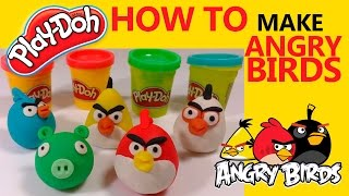 play doh angry birds - angry birds play doh stop motion playdo claymation video [hd] 1080p