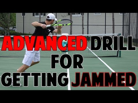 ADVANCED TENNIS DRILL TO STOP GETTING JAMMED (Part 2)