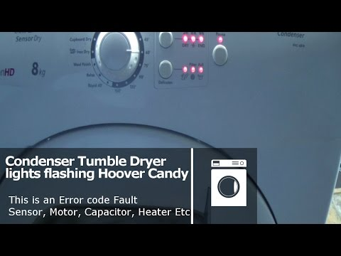 Hoover Candy Tumble dryer all lights flashing  error fault code