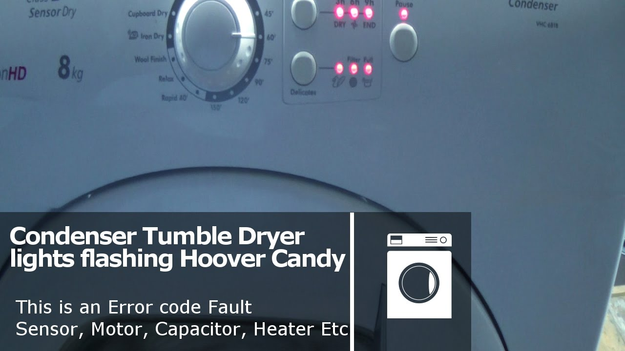Hoover Candy Tumble dryer all lights flashing error fault ...