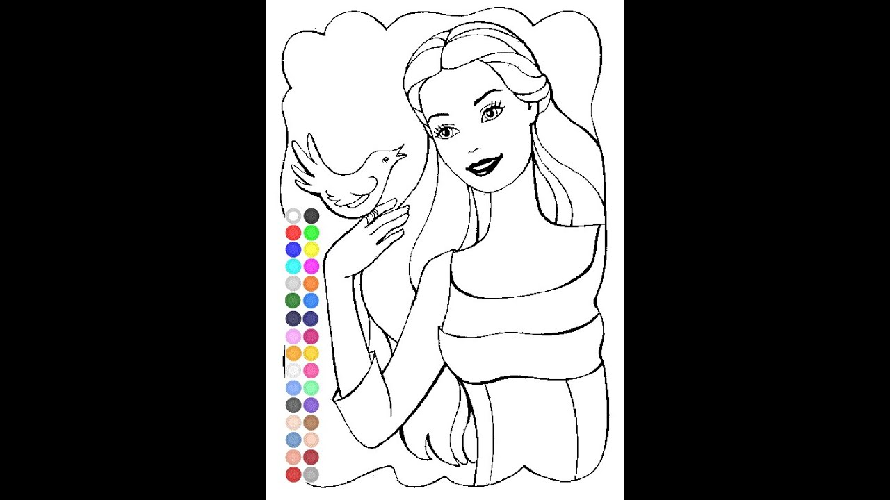 Best Barbie Coloring Pages Games Photos Coloring Page Design