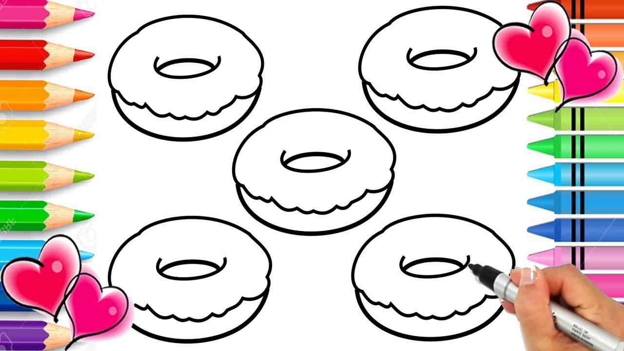 Doughnut Coloring Page with REAL SPRINKLES!!! SPRINKLE ART ...