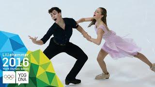 Ice Dance - Shpilevaya & Smirnov (RUS) win gold | Lillehammer 2016 Youth Olympic Games