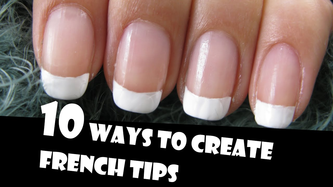 Steps for french manicure at home