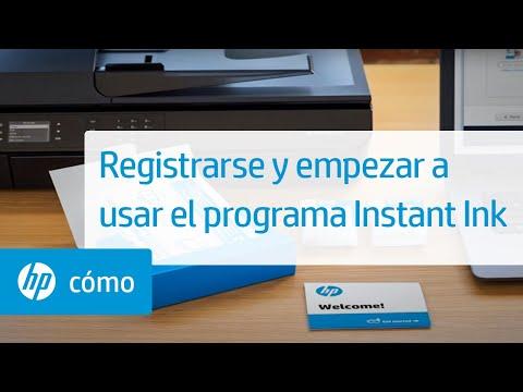 Registrarse y empezar a usar el programa Instant Ink | HP Ink | HP