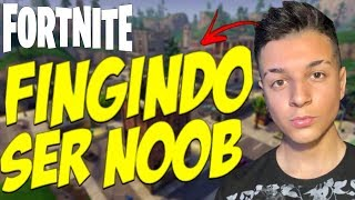 FINGINDO SER NOOB CONTRA ESQUADRAO TOXICO E ME CHAMARAM DE LIXO NO FORTNITE