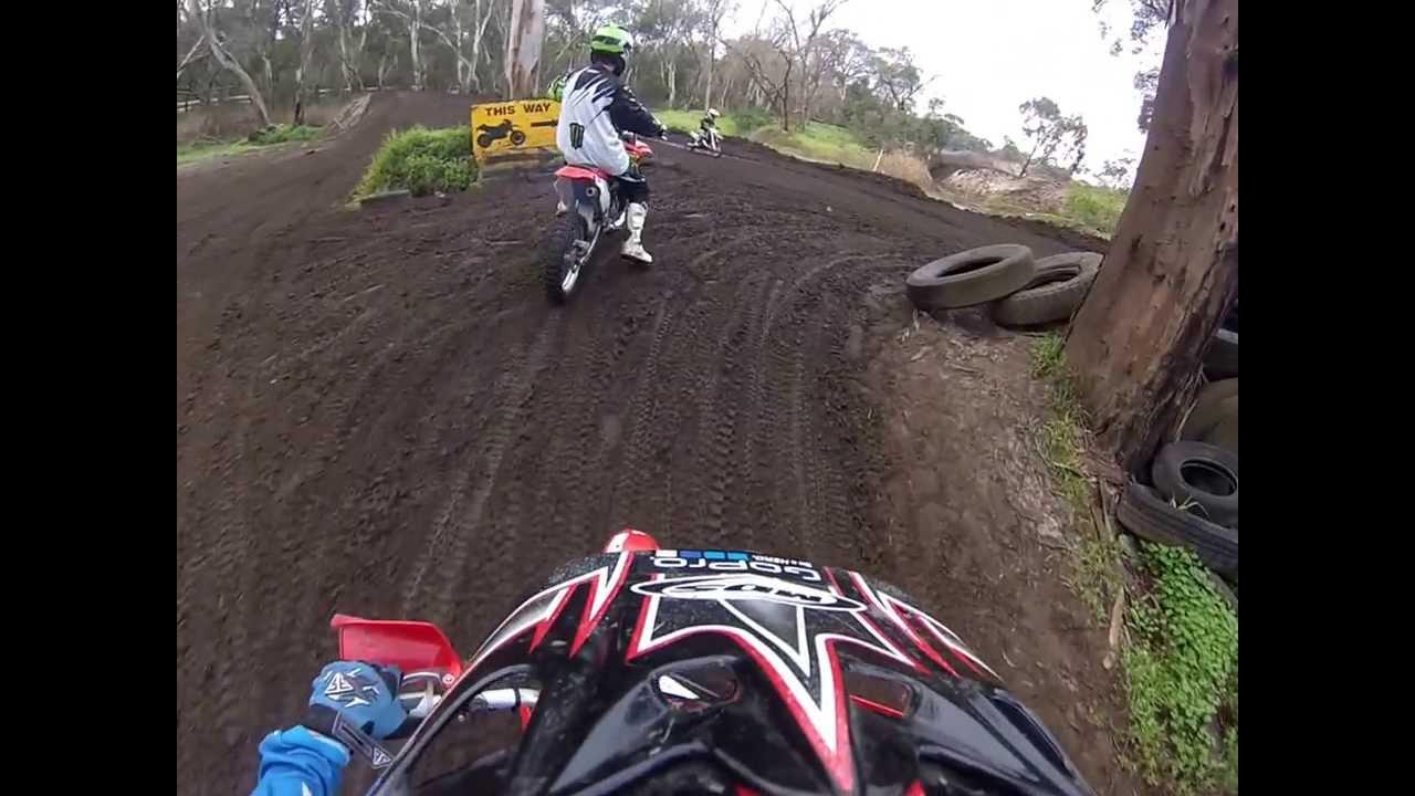 honda xr80 frankston motor bike track - youtube