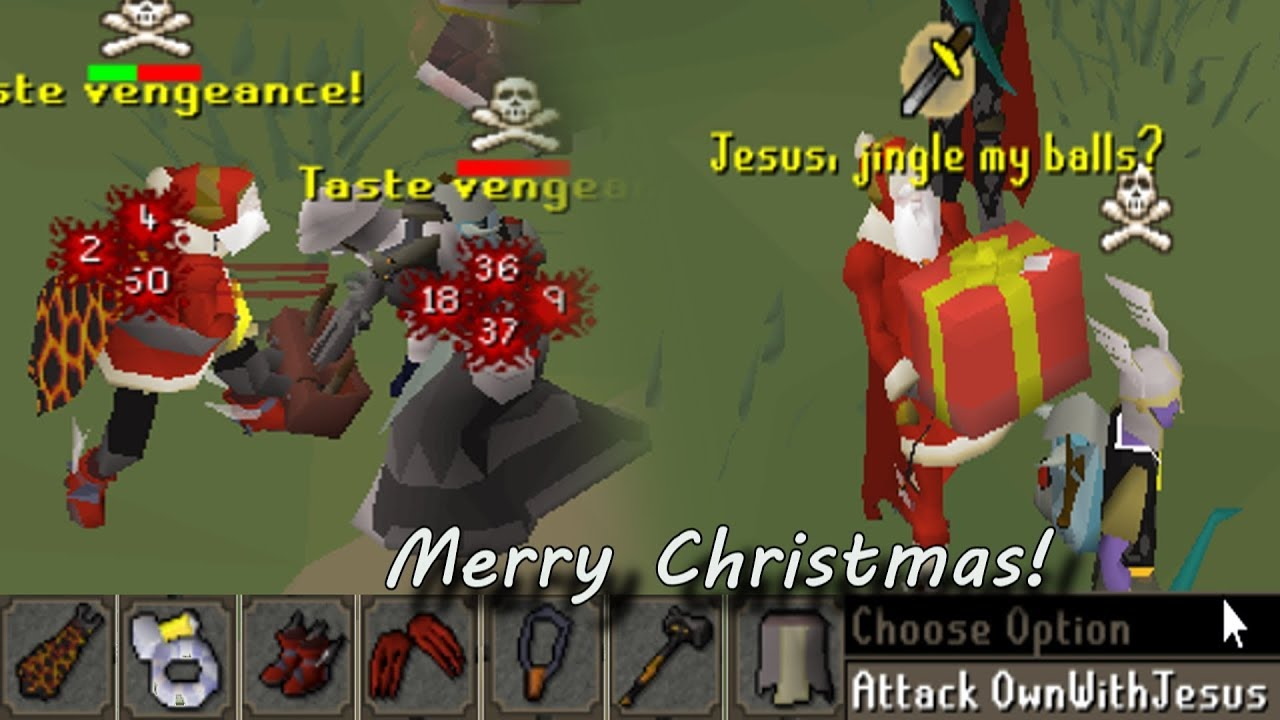 Santa DISTRACTS Osrs Pkers then 1 Hits Them! (130m+ Risk) - Ep5