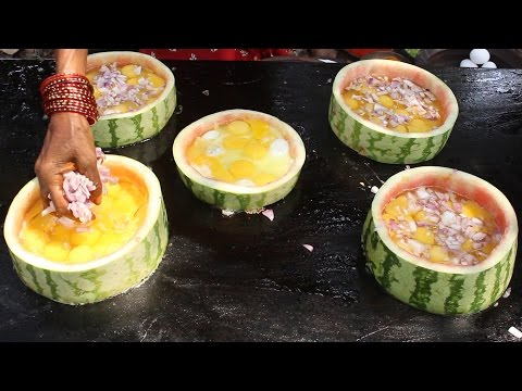 Thumbnail: Egg Bhurji in Watermelon Rings by my Grandma || Myna Street Food || Food Info